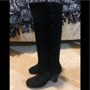 Marc By Marc Jacobs Tall Black Suede Boots 7